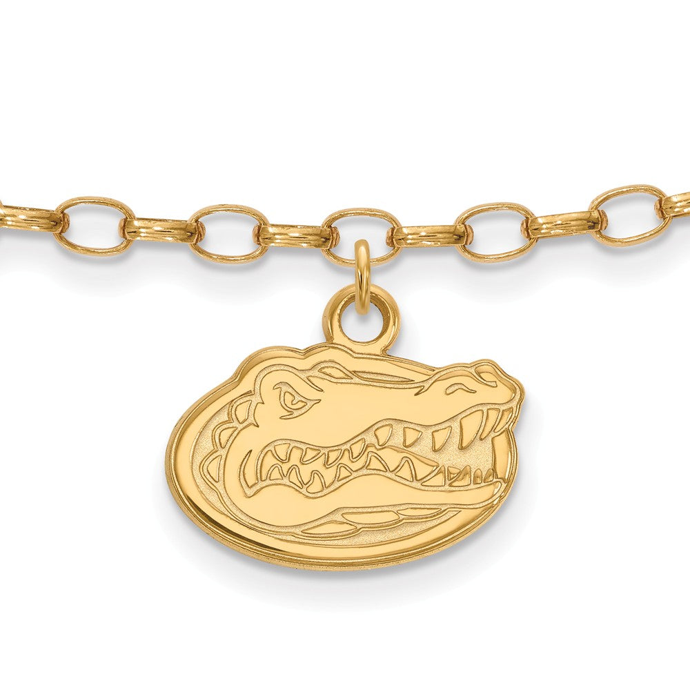 NCAA 14k Gold Plated Sterling Silver Univ. of Florida Anklet, 9 Inch, Item A8740 by The Black Bow Jewelry Co.