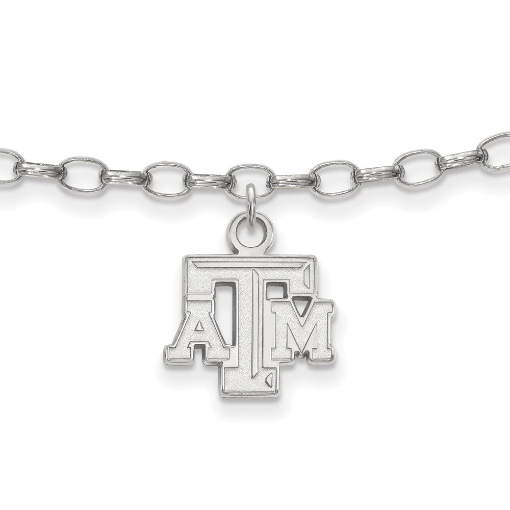 NCAA Sterling Silver Texas AAndM University Anklet, 9 Inch, Item A8760 by The Black Bow Jewelry Co.