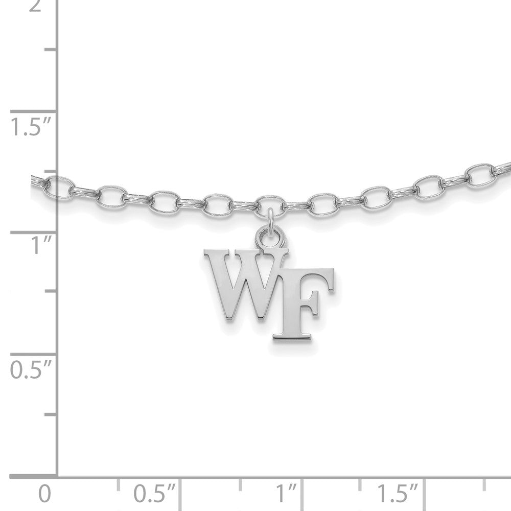 Alternate view of the NCAA Sterling Silver Wake Forest University Anklet, 9 Inch by The Black Bow Jewelry Co.