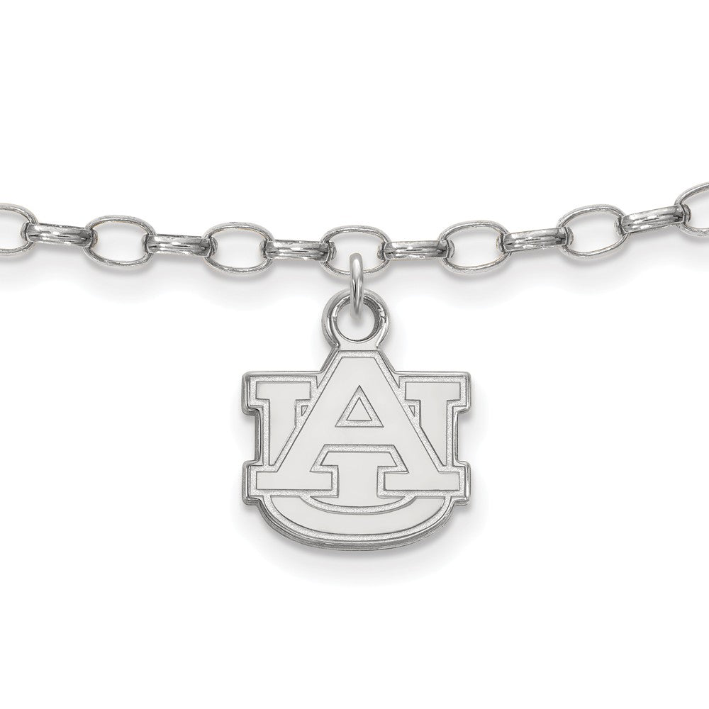 NCAA Sterling Silver Auburn University Anklet, 9 Inch, Item A8771 by The Black Bow Jewelry Co.