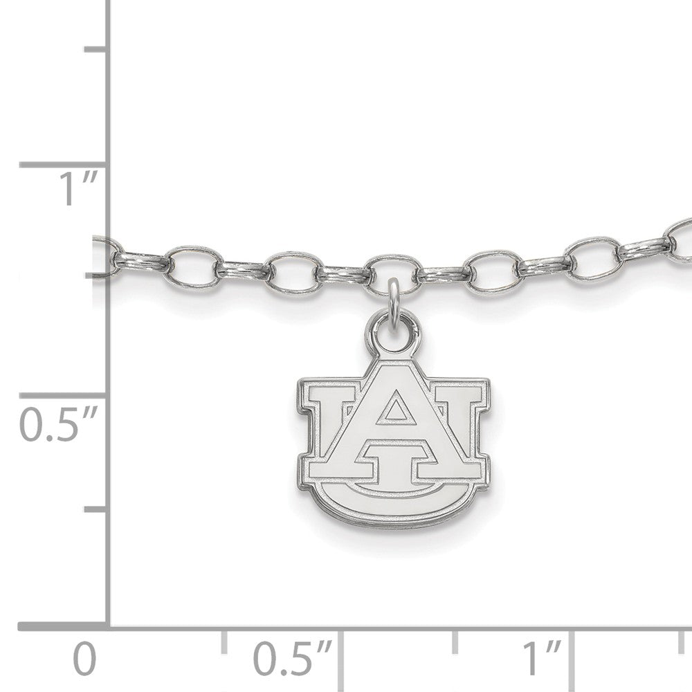 Alternate view of the NCAA Sterling Silver Auburn University Anklet, 9 Inch by The Black Bow Jewelry Co.