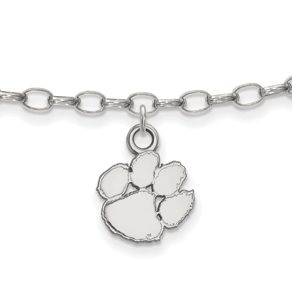 NCAA Sterling Silver Clemson University Anklet, 9 Inch, Item A8772 by The Black Bow Jewelry Co.