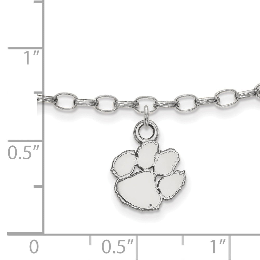 Alternate view of the NCAA Sterling Silver Clemson University Anklet, 9 Inch by The Black Bow Jewelry Co.