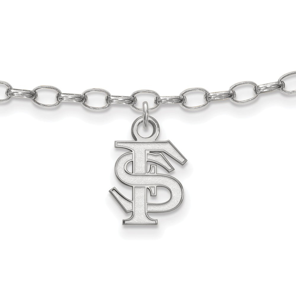 NCAA Sterling Silver Florida State University Anklet, 9 Inch, Item A8773 by The Black Bow Jewelry Co.