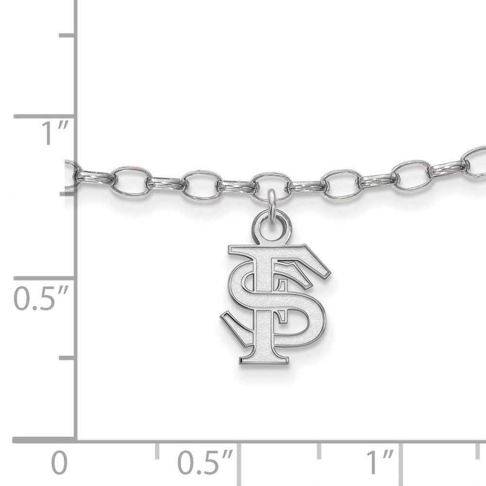 Alternate view of the NCAA Sterling Silver Florida State University Anklet, 9 Inch by The Black Bow Jewelry Co.