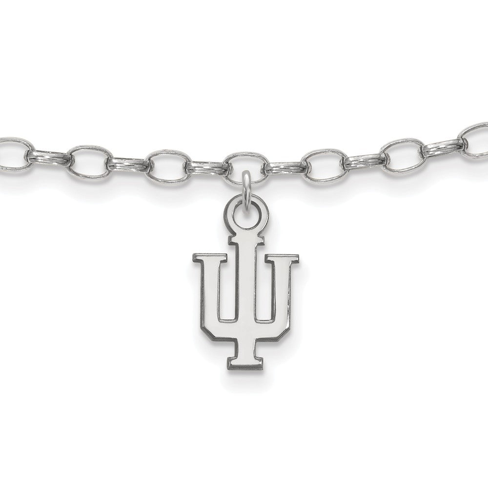 Sterling Silver Indiana University Anklet, 9 Inch, Item A8774 by The Black Bow Jewelry Co.