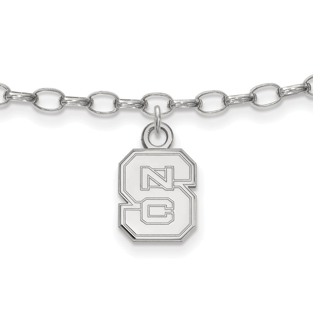 NCAA Sterling Silver North Carolina State University Anklet, 9 Inch, Item A8778 by The Black Bow Jewelry Co.
