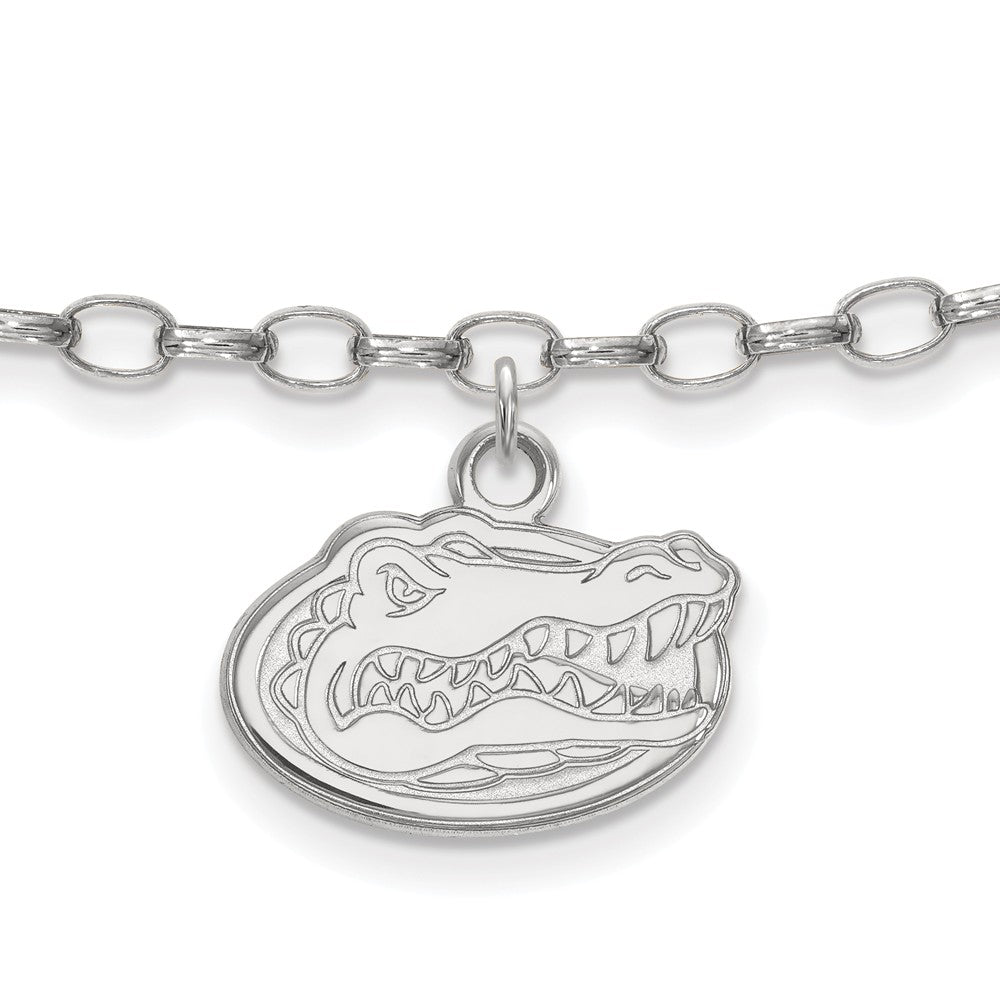NCAA Sterling Silver University of Florida Anklet, 9 Inch, Item A8782 by The Black Bow Jewelry Co.