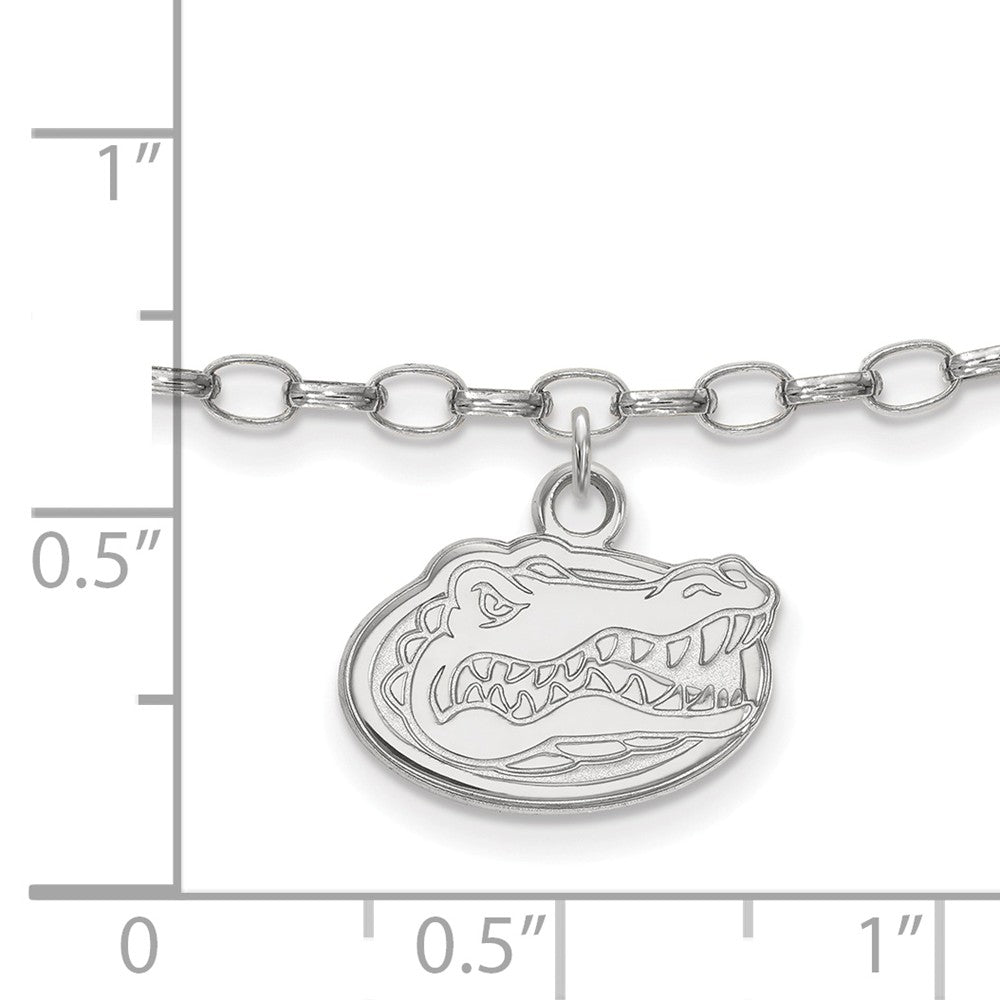 Alternate view of the NCAA Sterling Silver University of Florida Anklet, 9 Inch by The Black Bow Jewelry Co.