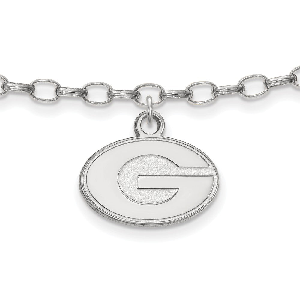 NCAA Sterling Silver University of Georgia Anklet, 9 Inch, Item A8783 by The Black Bow Jewelry Co.