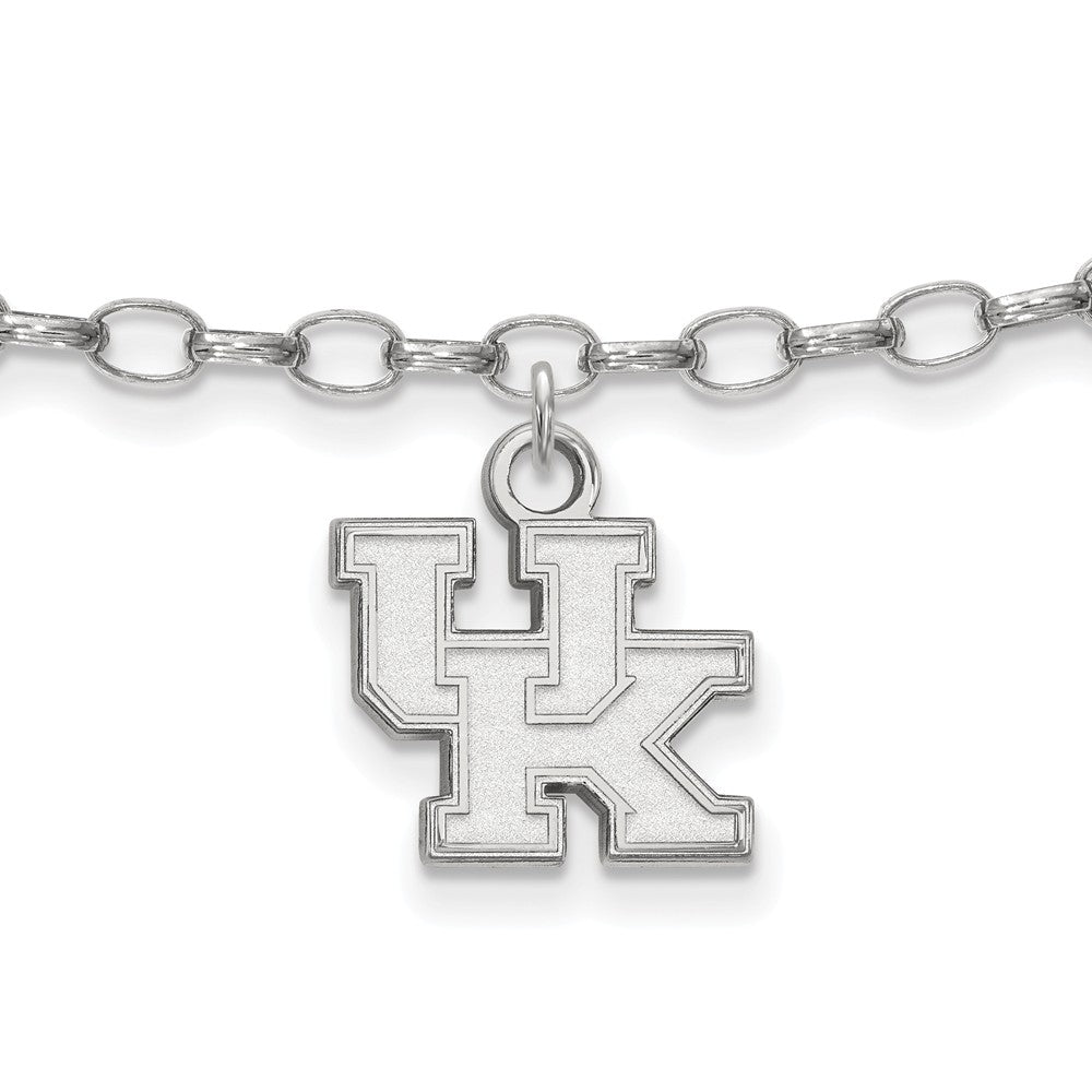 NCAA Sterling Silver University of Kentucky Anklet, 9 Inch, Item A8786 by The Black Bow Jewelry Co.