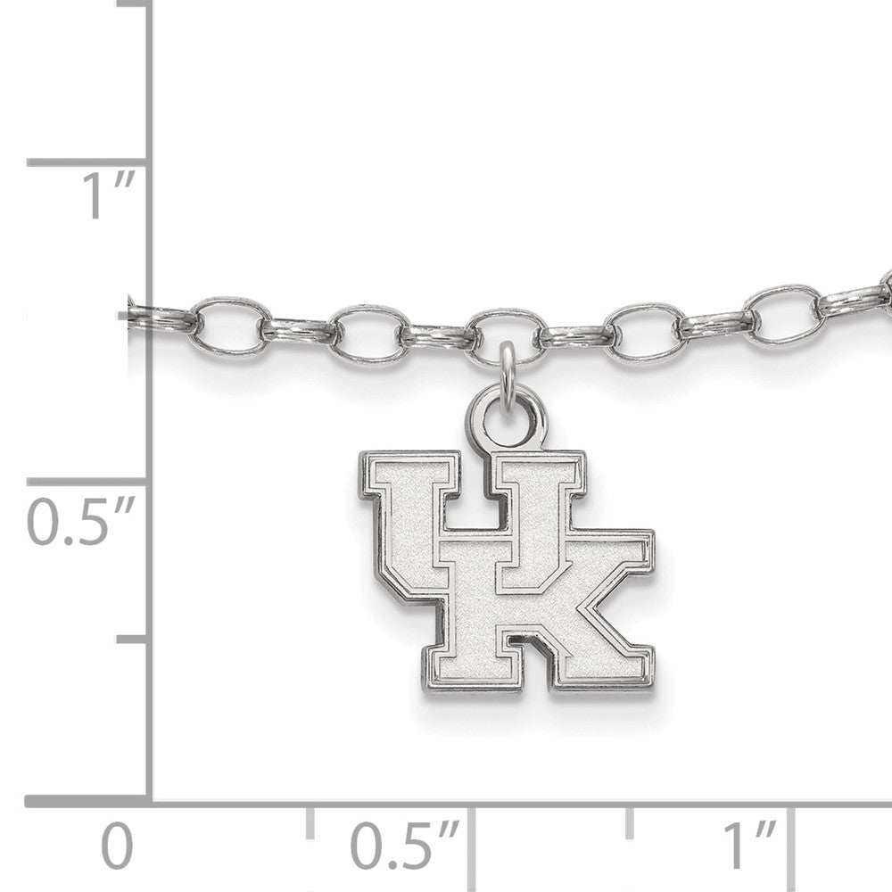 Alternate view of the NCAA Sterling Silver University of Kentucky Anklet, 9 Inch by The Black Bow Jewelry Co.