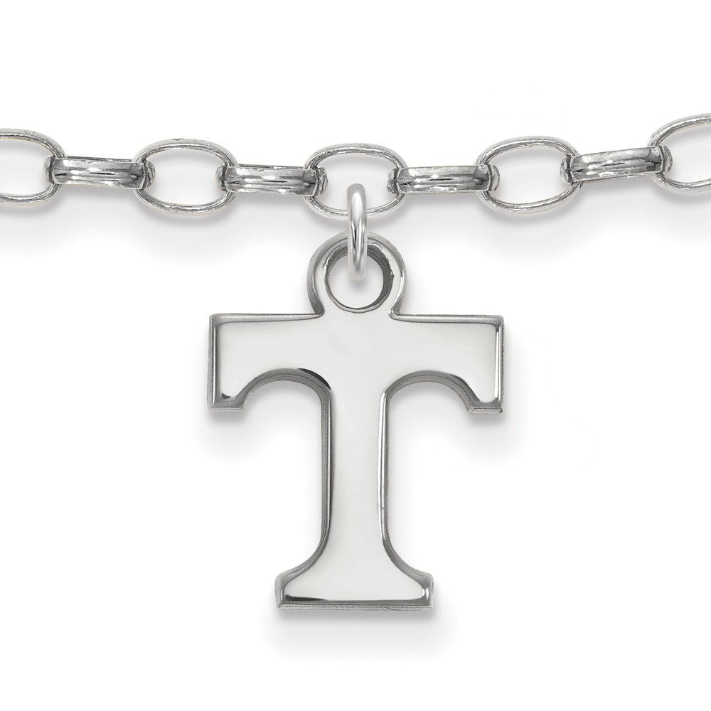 Sterling Silver University of Tennessee Anklet, 9 Inch, Item A8790 by The Black Bow Jewelry Co.