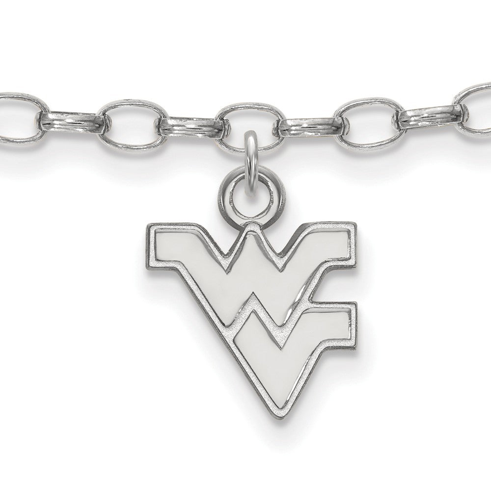 NCAA Sterling Silver West Virginia University Anklet, 9 Inch, Item A8793 by The Black Bow Jewelry Co.