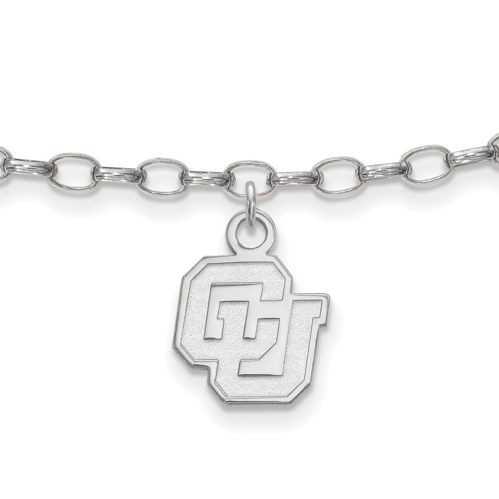 NCAA Sterling Silver University of Colorado Anklet, 9 Inch, Item A8795 by The Black Bow Jewelry Co.