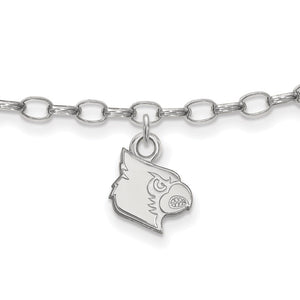 NCAA Sterling Silver University of Louisville Anklet, 9 Inch