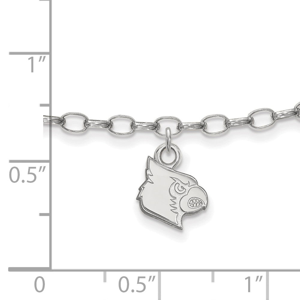 Alternate view of the Sterling Silver University of Louisville Anklet, 9 Inch by The Black Bow Jewelry Co.
