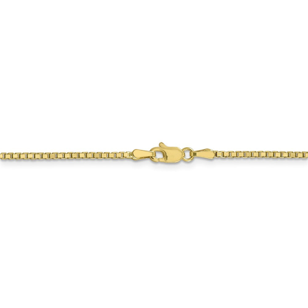 Alternate view of the 10k Yellow Gold 1.5mm Box Chain Anklet, 9 Inch by The Black Bow Jewelry Co.