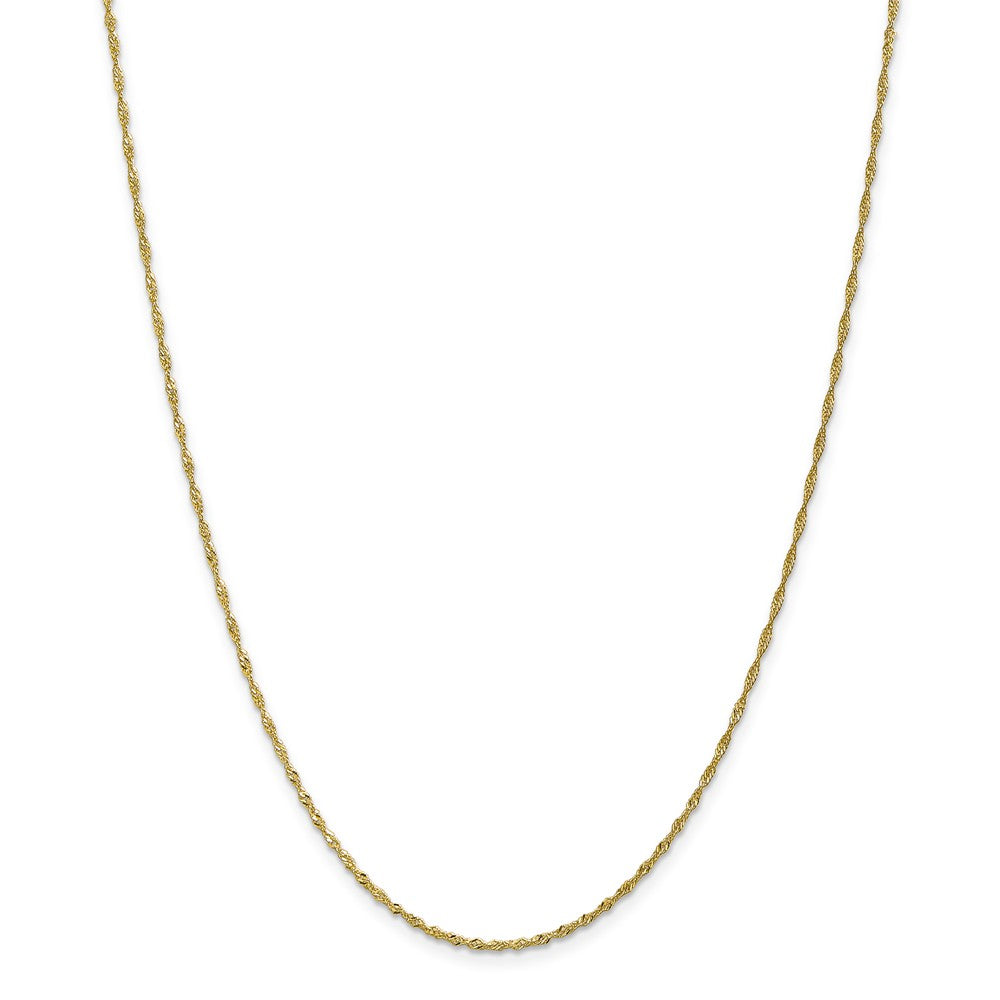 1.4mm 10k Yellow Gold Solid Singapore Chain Anklet, 10 Inch, Item A8882 by The Black Bow Jewelry Co.