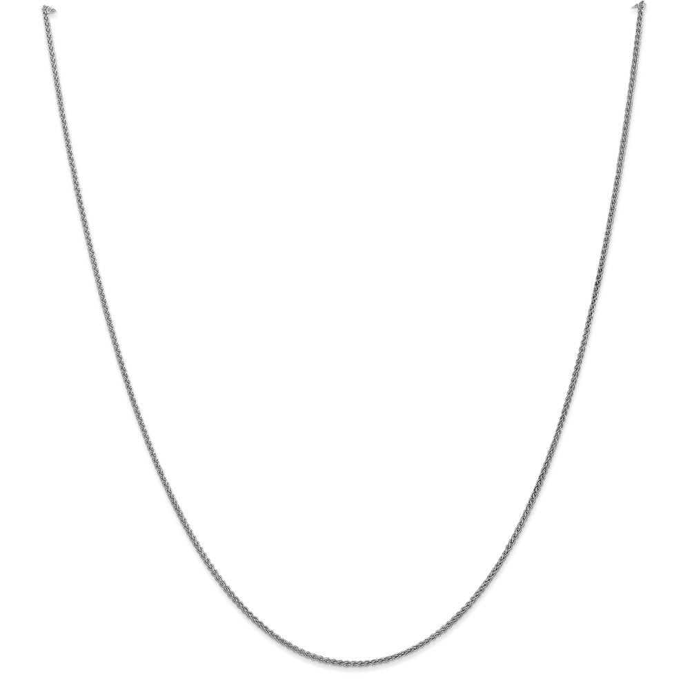 1.25mm 10k White Gold Solid Spiga Chain Anklet, 10 Inch, Item A8886 by The Black Bow Jewelry Co.