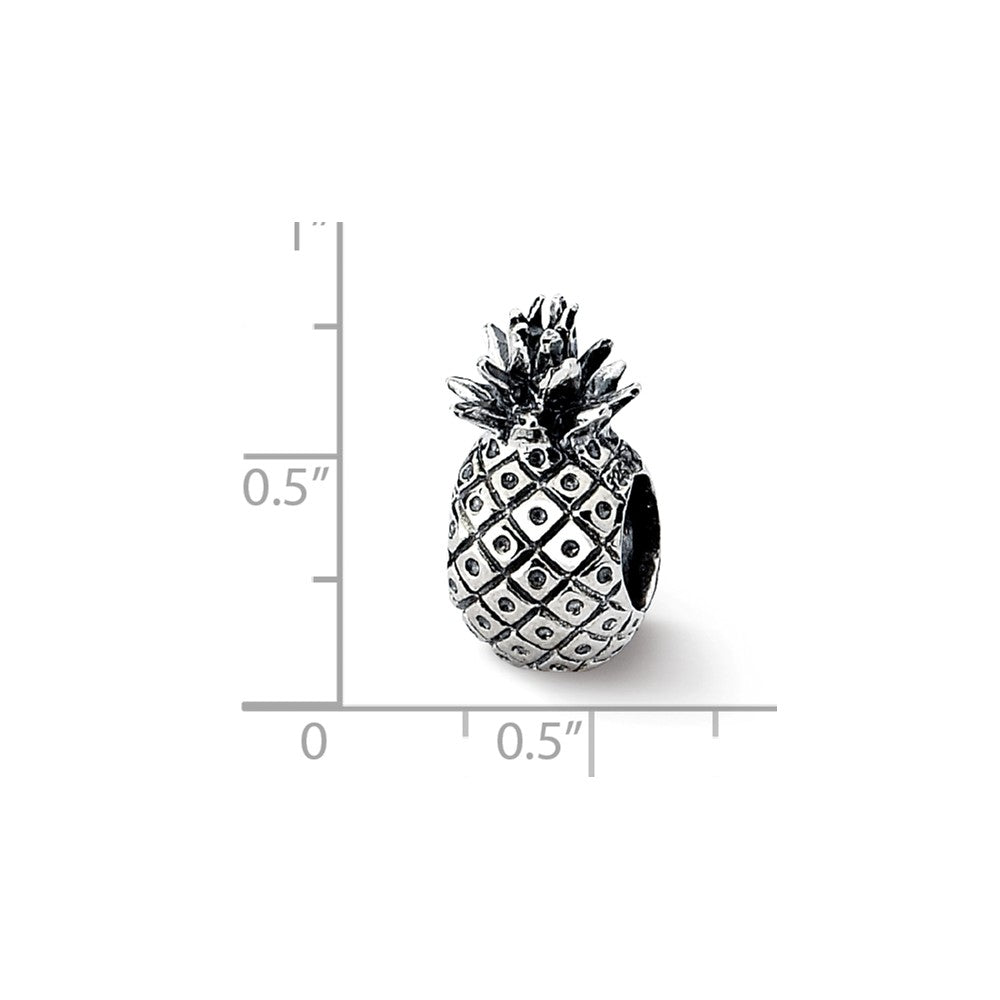 Alternate view of the Sterling Silver Pineapple Bead Charm by The Black Bow Jewelry Co.