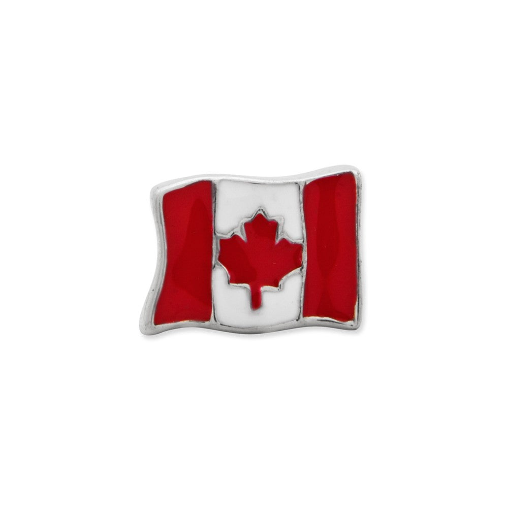 Alternate view of the Sterling Silver Canada Flag Bead Charm by The Black Bow Jewelry Co.