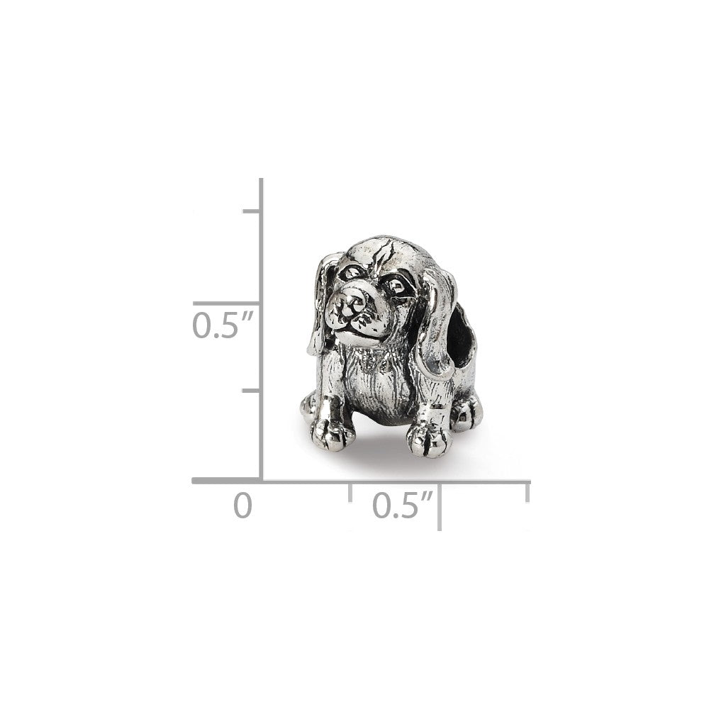 Alternate view of the Sterling Silver Beagle Bead Charm by The Black Bow Jewelry Co.