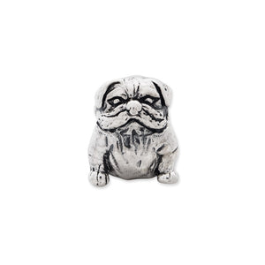 Alternate view of the Sterling Silver Bulldog Bead Charm by The Black Bow Jewelry Co.