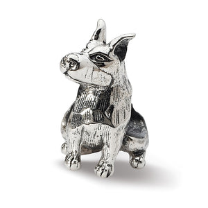 Sterling Silver Doberman Pinscher Bead Charm - The Black Bow Jewelry Co.