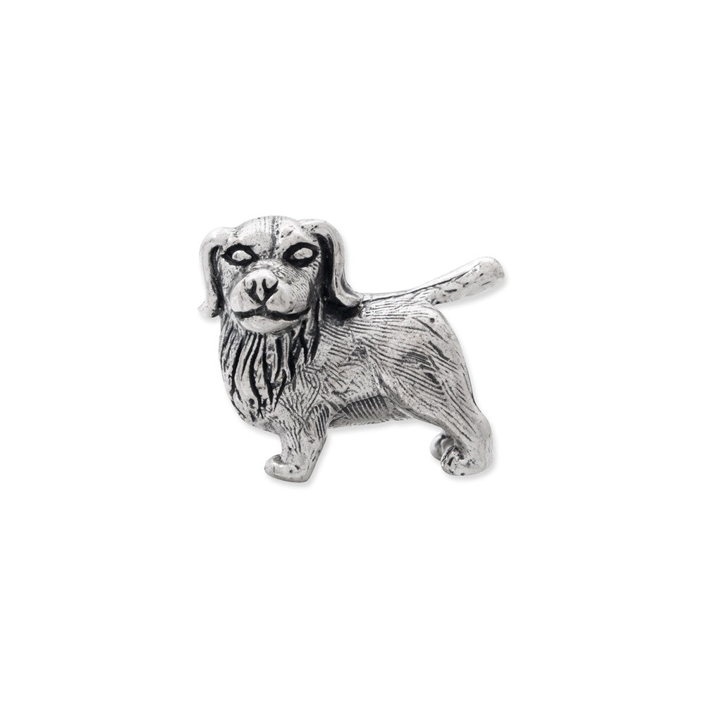 Alternate view of the Sterling Silver Golden Retriever Bead Charm by The Black Bow Jewelry Co.