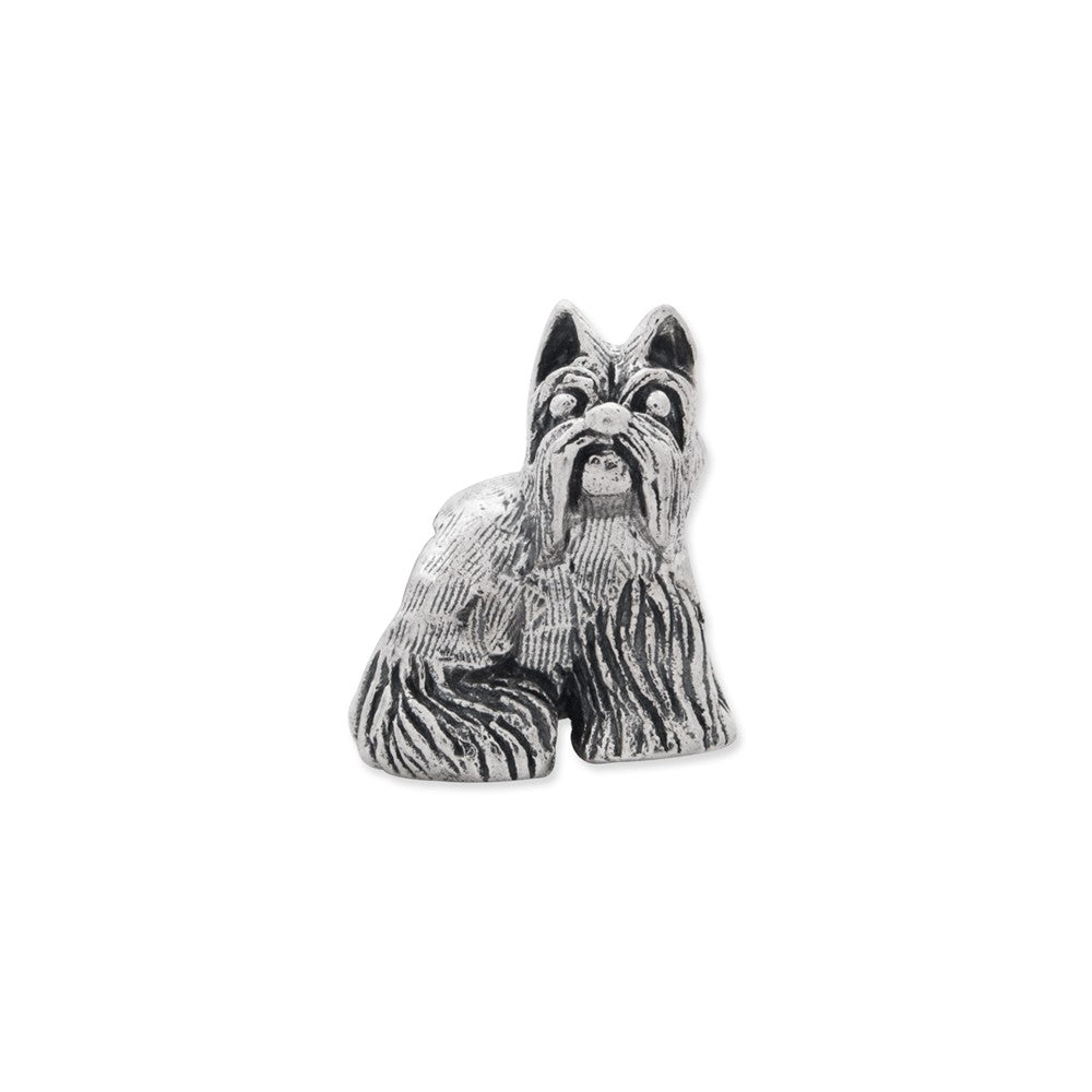 Alternate view of the Sterling Silver Miniature Schnauzer Bead Charm by The Black Bow Jewelry Co.