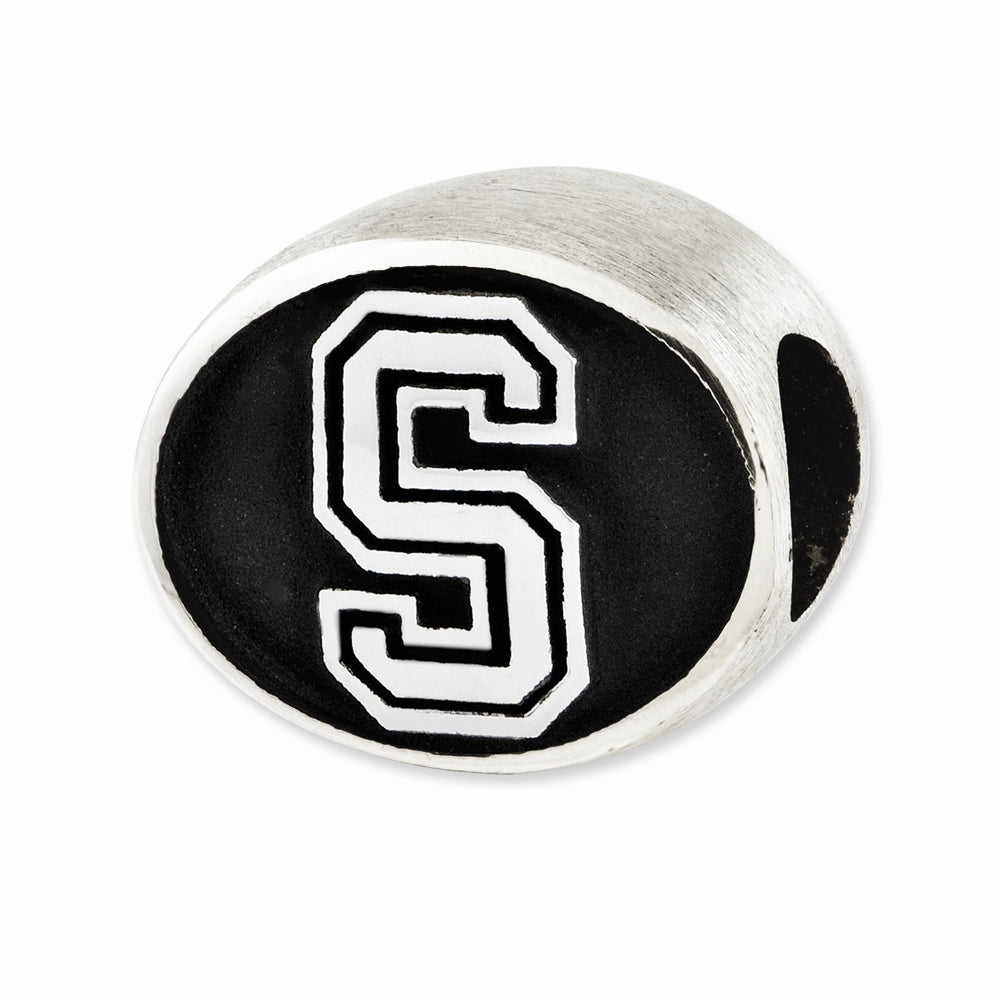 Alternate view of the Sterling Silver & Enamel Stanford University Collegiate Bead Charm by The Black Bow Jewelry Co.