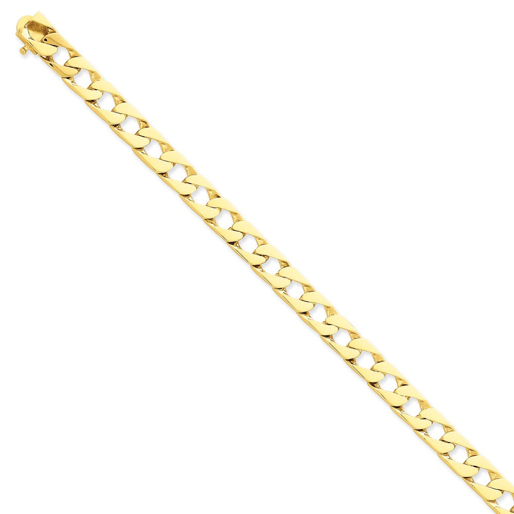 Men's 14k Yellow Gold, 8mm Fancy Link Chain Bracelet - 8 Inch, Item B11238 by The Black Bow Jewelry Co.