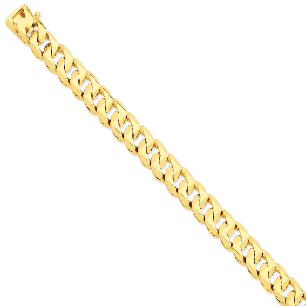 Men's 14k Yellow Gold, 12mm Traditional Link Bracelet - 8 Inch, Item B11252 by The Black Bow Jewelry Co.