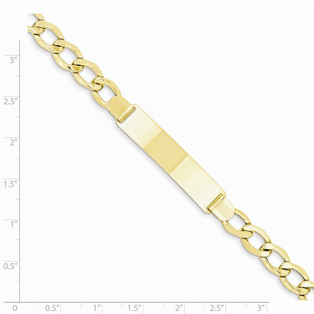 Alternate view of the 14k Yellow Gold Curb Link 8mm I.D. Bracelet - 8 Inch by The Black Bow Jewelry Co.