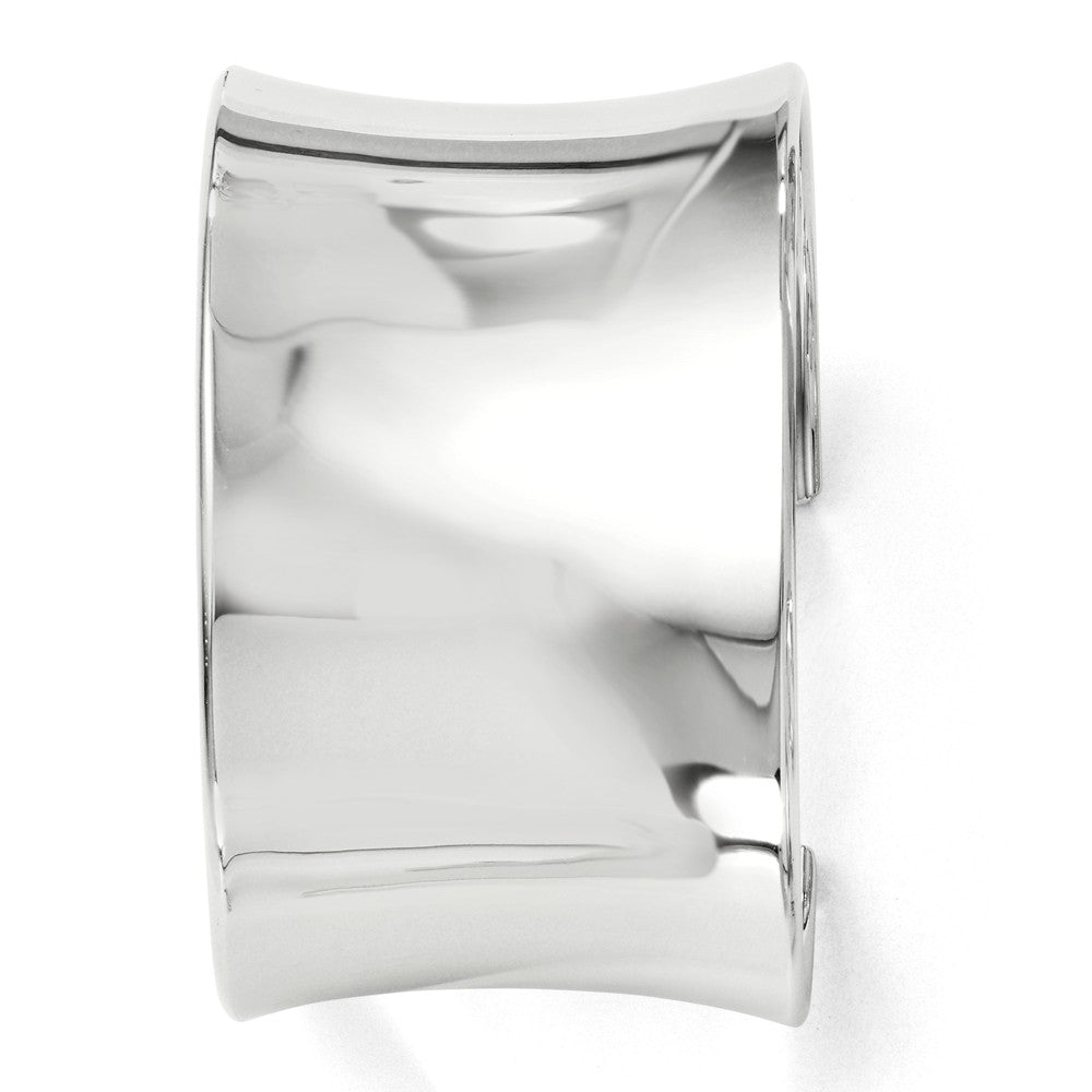 Sterling Silver 40mm Polished Concave Cuff Bracelet, Item B11481 by The Black Bow Jewelry Co.