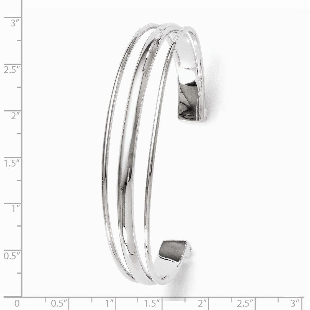Alternate view of the Sterling Silver 14mm Split Cuff Bracelet by The Black Bow Jewelry Co.