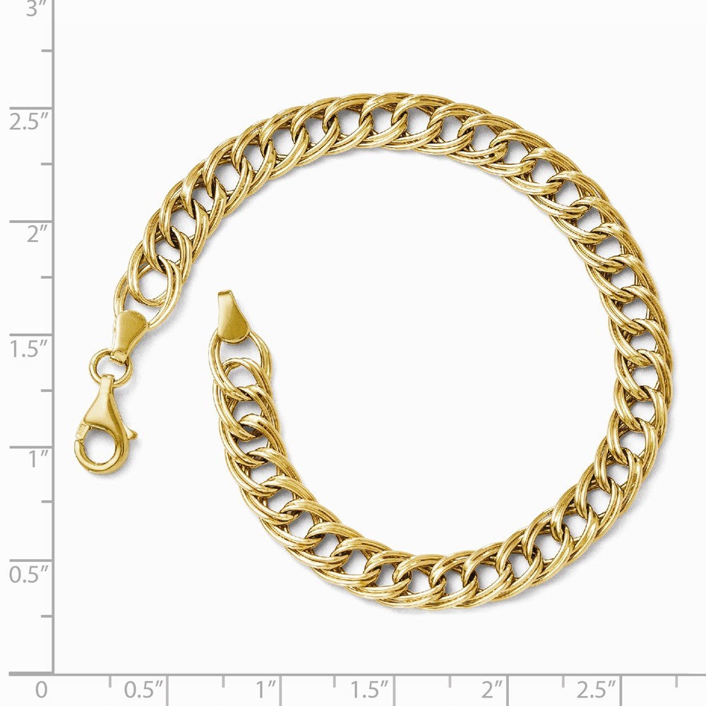Alternate view of the 14k Yellow Gold 7mm Double Curb Link Chain Bracelet, 7 Inch by The Black Bow Jewelry Co.