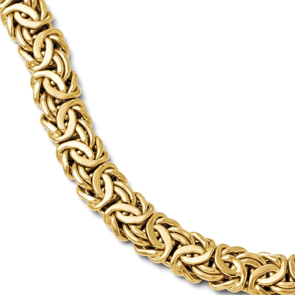Italian 12mm Byzantine Chain Bracelet in 14k Yellow Gold, 7.5 Inch, Item B11750 by The Black Bow Jewelry Co.