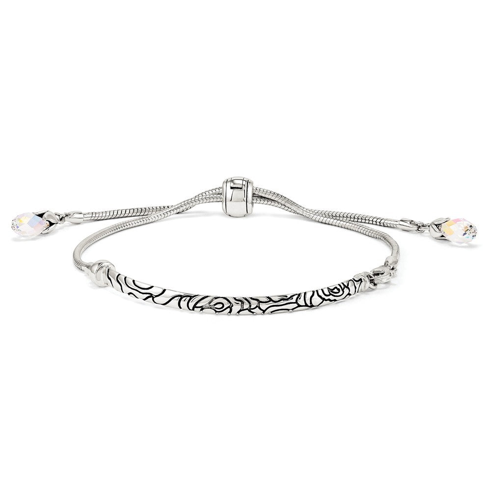 Alternate view of the Sterling Silver & Pink Crystal Adjustable Starter Bracelet by The Black Bow Jewelry Co.