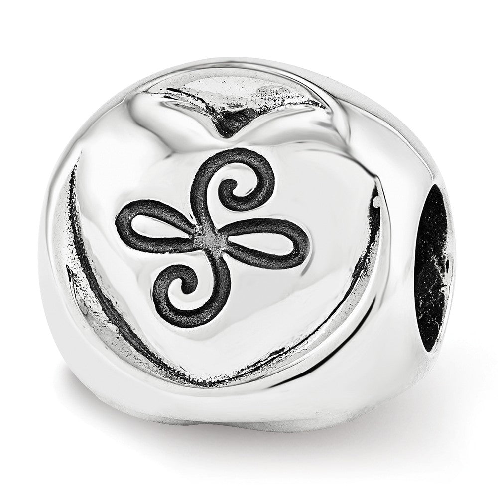 Alternate view of the Sterling Silver My Mother My Friend 3-Sided Trilogy Bead Charm by The Black Bow Jewelry Co.
