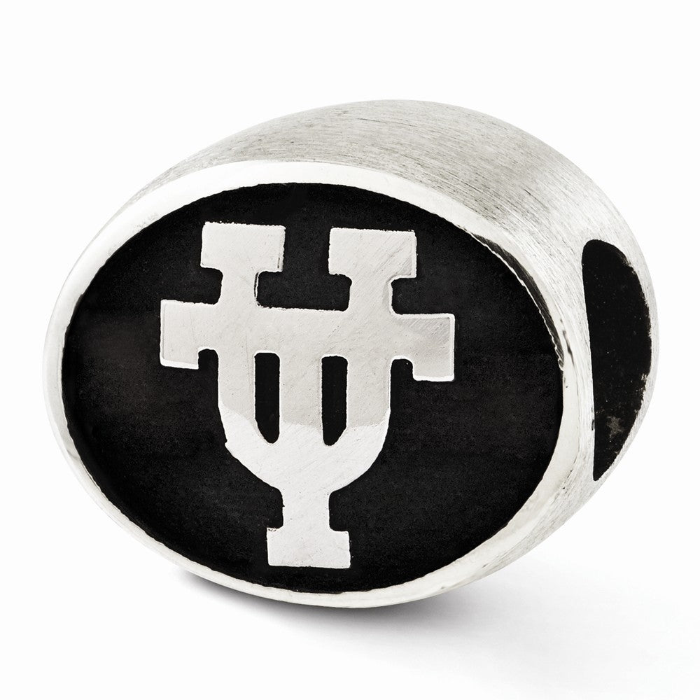 Alternate view of the University of Texas Collegiate Charm in Antiqued Sterling Silver by The Black Bow Jewelry Co.