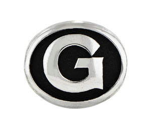 Georgetown University Collegiate Charm in Antiqued Sterling Silver