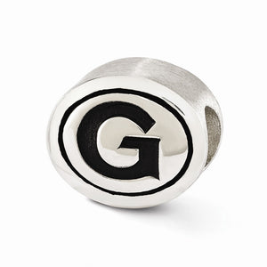 Alternate view of the Georgetown University Collegiate Charm in Antiqued Sterling Silver by The Black Bow Jewelry Co.