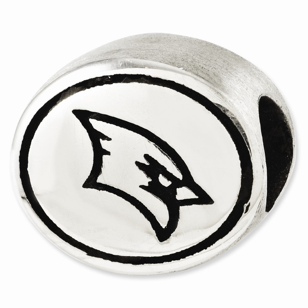 Alternate view of the Saginaw Valley State University Charm in Antiqued Sterling Silver by The Black Bow Jewelry Co.