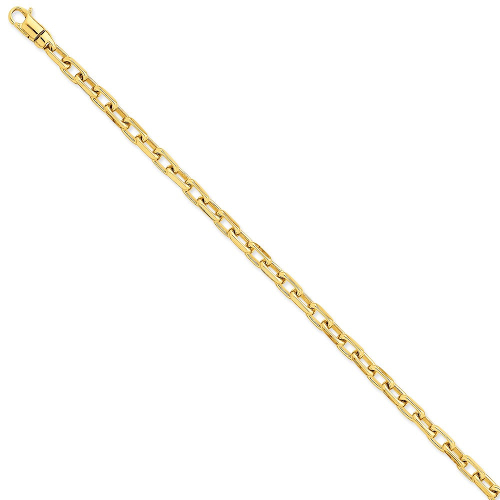 5.6mm 14k Yellow Gold Polished Fancy Cable Chain Bracelet - The Black Bow Jewelry Co.