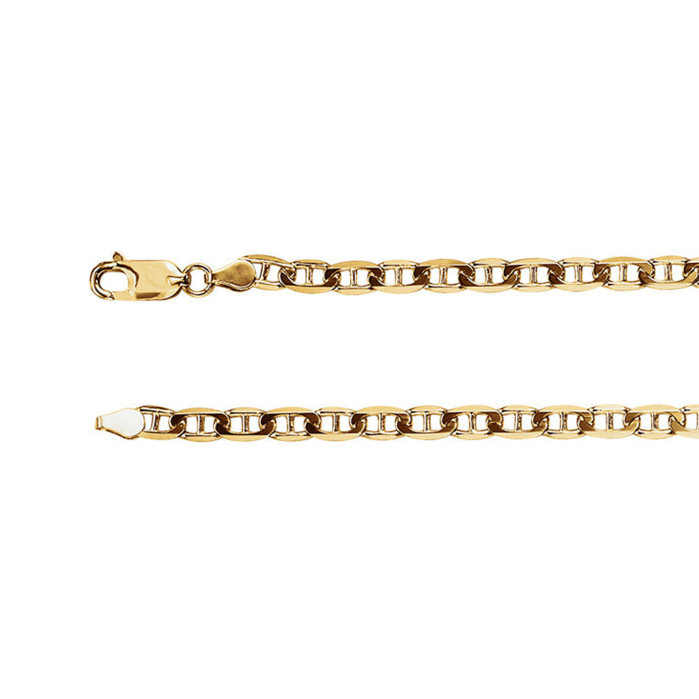 4.5mm Solid Anchor Chain Bracelet in 14k Yellow Gold - The Black Bow Jewelry Co.