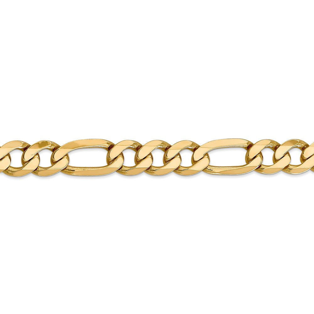 Alternate view of the 10mm 14k Yellow Gold Flat Figaro Chain Bracelet by The Black Bow Jewelry Co.
