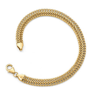 6mm 14k Yellow Gold Polished Hollow S Link Chain Bracelet, 7.5 Inch - The Black Bow Jewelry Co.