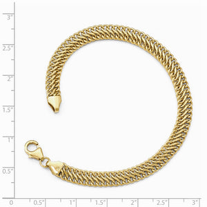 Alternate view of the 6mm 14k Yellow Gold Polished Hollow S Link Chain Bracelet, 7.5 Inch by The Black Bow Jewelry Co.